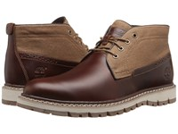Timberland Britton Hill Chukka Medium Brown Full Grain Wax Canvas Men's Lace Up Boots