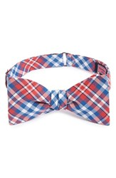 Vineyard Vines Men's 'Gilberts Pond' Plaid Woven Silk Bow Tie