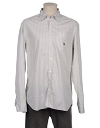 Luis Trenker Long Sleeve Shirts Light Grey