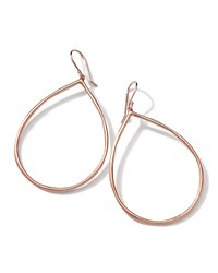 18K Rose Gold Smooth Open Teardrop Earrings 64Mm Ippolita