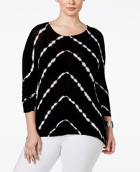 Inc International Concepts Plus Size Tie Dyed Handkerchief Hem Top Only At Macy's Moroccan Tie Dye