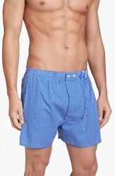 Nordstrom Men's Big And Tall Men's Shop Classic Fit Cotton Boxers Blue Check