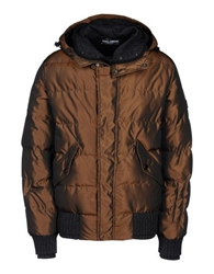 Dolce And Gabbana Down Jacket Brown