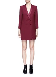 Topshop Double Breasted Crepe Dress Red