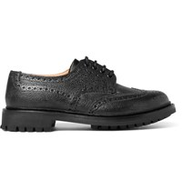 Church's Mcpherson Textured Leather Wingtip Brogues Black