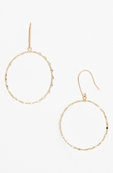 Lana 'Blake' Small Frontal Hoop Earrings Yellow Gold