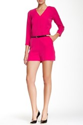 Ted Baker Ariyell Faux Leather Belted Blouson Playsuit Pink