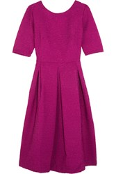 Saloni Martine Matelasse Dress Magenta
