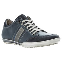Dune Tipple Panel Leather Trainers Navy