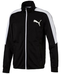 Puma Men's Contrast Zippered Track Jacket Black White