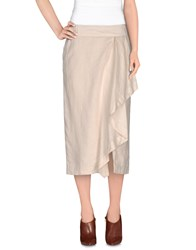 Henry Cotton's Skirts 3 4 Length Skirts Women Beige