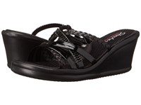 Skechers Cali Rumblers Wild Child Black Black Women's Sandals