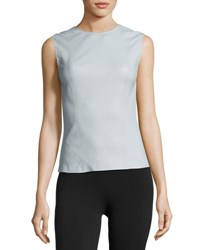 Helmut Lang Stretch Leather Shell Top Opal White