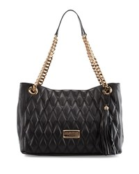 Valentino By Mario Valentino Verra D Quilted Leather Tote Bag Black