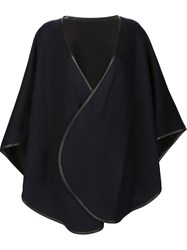 Sofia Cashmere Cape Coat Blue