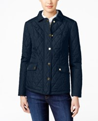 Charter Club Quilted Water Resistant Jacket Only At Macy's Intrepid Blue