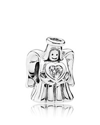 Pandora Design Charm Sterling Silver And Cubic Zirconia Angel Of Love Moments Collection