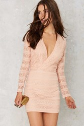 Nasty Gal Ruffle And Flow Lace Dress