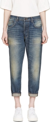 6397 Blue Faded Shorty Jeans