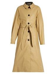 Christophe Lemaire Coated Cotton Trench Coat Beige