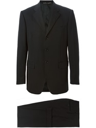 Dolce And Gabbana Vintage Classic Two Button Suit Black