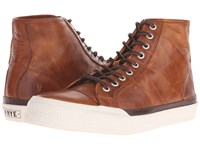 Frye Greene Tall Lace Cognac Antique Pull Up Men's Lace Up Casual Shoes Brown
