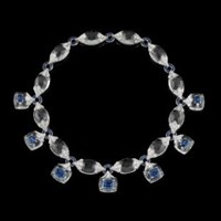 Fabio Salini Necklace Crystal Sapphires Diamond And Rock Crystal Blue