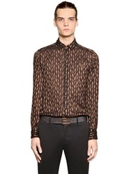 Etro Diamond Jacquard Silk Blend Voile Shirt
