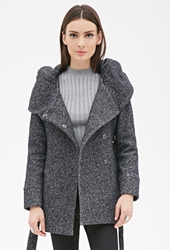 Forever 21 Heathered Knit Cocoon Jacket