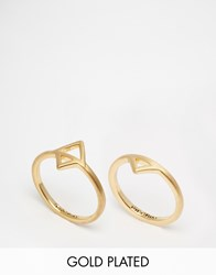 Pilgrim Gold Plated Ring Set Gold Plated