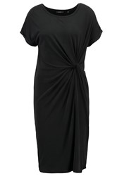 Kiomi Jersey Dress Black Dark Grey