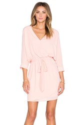 Three Eighty Two Mia 3 4 Surplice Dress Pink