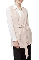 Women's Topshop Sleeveless Belted Wrap Jacket