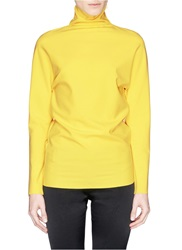 Ms Min Turtleneck Bonded Jersey Top Yellow