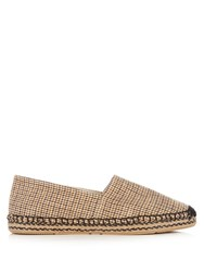 Isabel Marant Etoile Canaee Checked Canvas Espadrilles Beige Multi