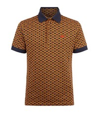 Vivienne Westwood Circle Print Polo Shirt Male Orange