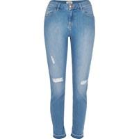 River Island Womens Light Blue Wash Alannah Relaxed Skinny Jeans