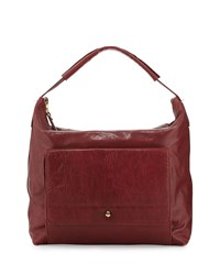 Etienne Aigner Daily Leather Hobo Bag Cordovan Red