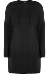 Amanda Wakeley Stretch Cotton Twill Coat Black