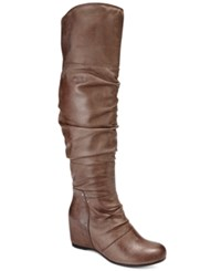 Bare Traps Valry Over The Knee Boots Women's Shoes Mushroom