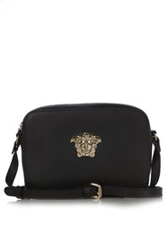 Versace Palazzo Medusa Leather Cross Body Bag Black Gold