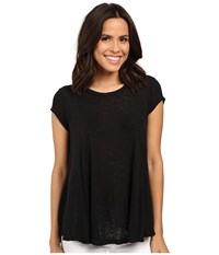 Bobeau Posy Swing Knit T Shirt Black Women's T Shirt