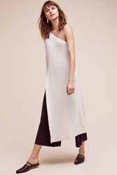 Anthropologie Lae One Shoulder Tunic Ivory