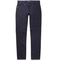 Giorgio Armani Slim Fit Selvedge Denim Jeans Dark Denim