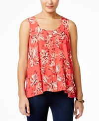 Styleandco. Style And Co. Petite Floral Print Sleeveless Top Only At Macy's Fiji Fauna