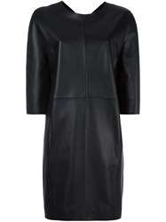 Maison Martin Margiela Leather Shift Dress Black