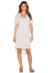Dolan V Neck T Shirt Dress Beige
