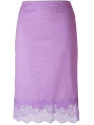 Ermanno Scervino Lace Bottom Skirt Pink And Purple