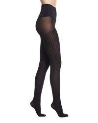 Commando Sweater Rib Net Tights Black