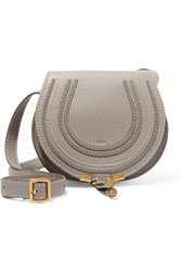Chloe The Marcie Mini Textured Leather Shoulder Bag Gray